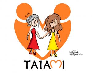 Estelle et le logo TA1AMI